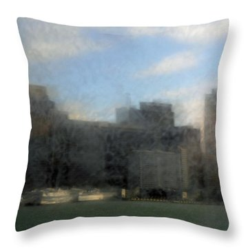 City View Through Window 3 Throw Pillow by Catherine Lau
