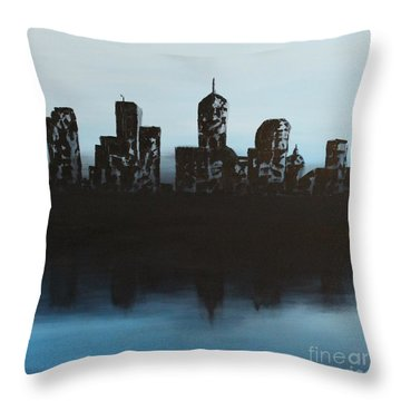 Cityscape One Throw Pillow