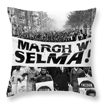 Civil Rights March, 1965 Throw Pillow by Granger