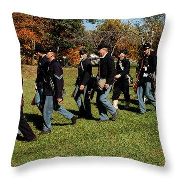 Civil Soldiers March Throw Pillow by LeeAnn McLaneGoetz McLaneGoetzStudioLLCcom
