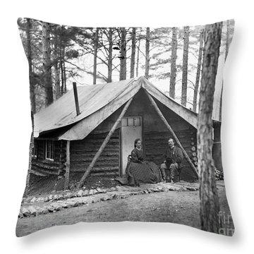 Civil War: Log Cabin, 1864 Throw Pillow by Granger