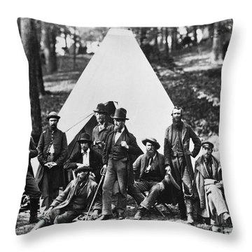 Civil War: Scouts, 1862 Throw Pillow by Granger