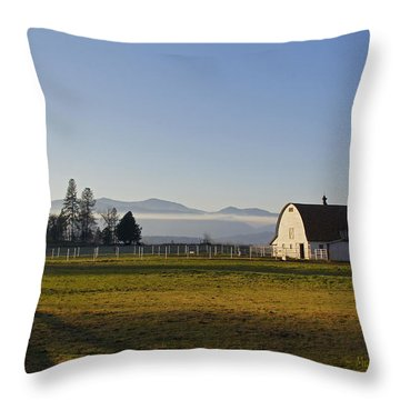 Classic Barn In The Country Throw Pillow by Mick Anderson