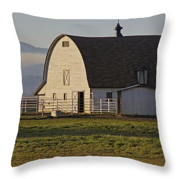 Classic Barn Near Grants Pass Throw Pillow by Mick Anderson