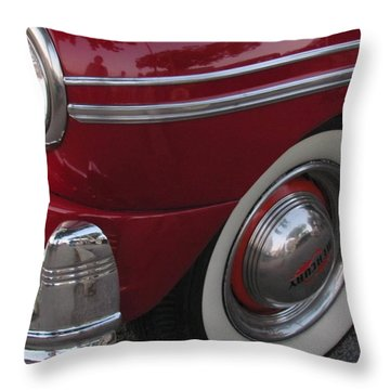 Classic Car Mercury Red 3 Throw Pillow by Anita Burgermeister