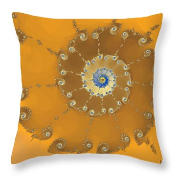Classic Nautilus Throw Pillow by Mark Greenberg