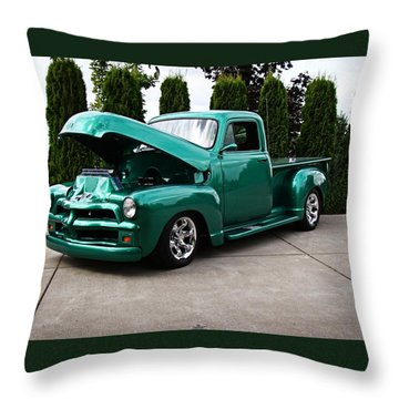 Throw Pillow featuring the photograph Classic Pickup by Nick Kloepping