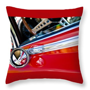 Classic Red Car Artwork Throw Pillow