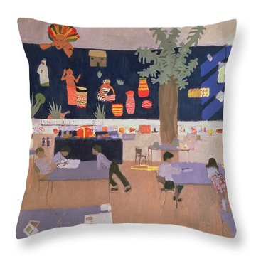 Classroom Throw Pillow by Andrew Macara