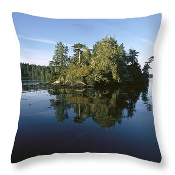 Clayoquot Sound Vancouver Island Throw Pillow by Flip Nicklin