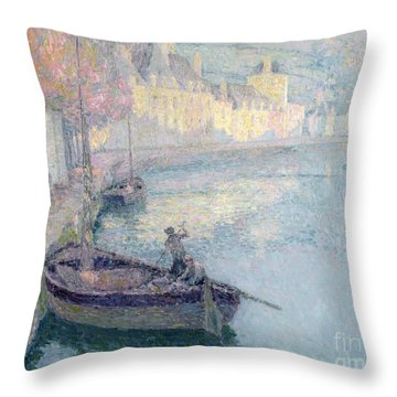 Clear Morning - Quimperle Throw Pillow