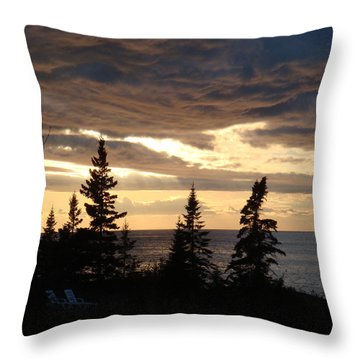 Throw Pillow featuring the photograph Clearing Sky by Bonfire Photography