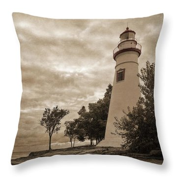 Clearing Storm Throw Pillow by Dale Kincaid