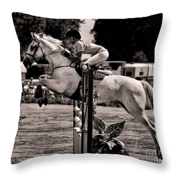 Clearing The Hurdle Throw Pillow