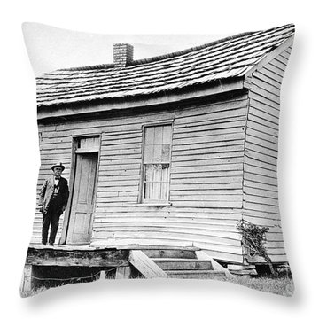 Clemens: Birthplace Throw Pillow by Granger