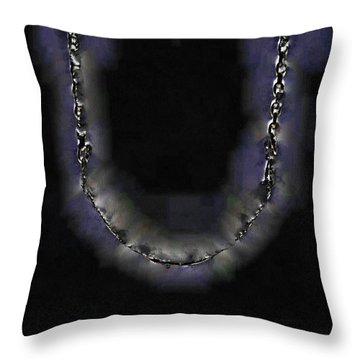 Throw Pillow featuring the digital art Cleopatra's Necklace by Steve Taylor