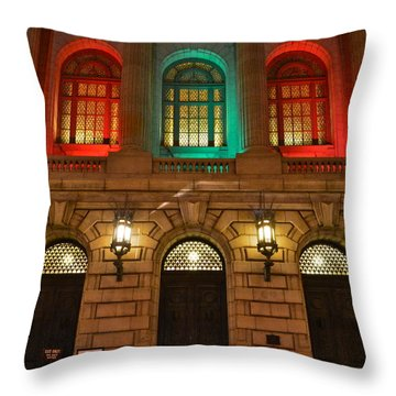 Cleveland Courthouse Throw Pillow by Frozen in Time Fine Art Photography