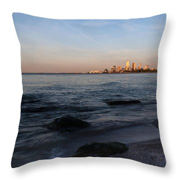 Cleveland From The Shadows Throw Pillow