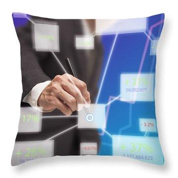 Click On Board Throw Pillow by Atiketta Sangasaeng