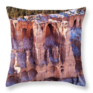 Cliff Condos Throw Pillow by Bob and Nancy Kendrick