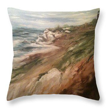 Cliff Side - Newport Throw Pillow