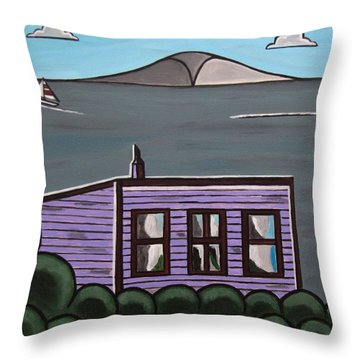Cliff Top Throw Pillow by Sandra Marie Adams