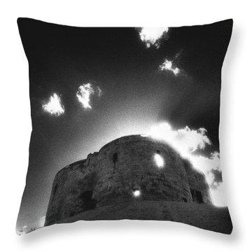 Cliffords Tower Throw Pillow by Simon Marsden