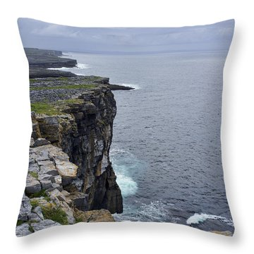 Throw Pillow featuring the photograph Cliffs Of Inishmore by Hugh Smith