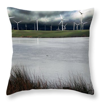 Climate Changed Storm Throw Pillow