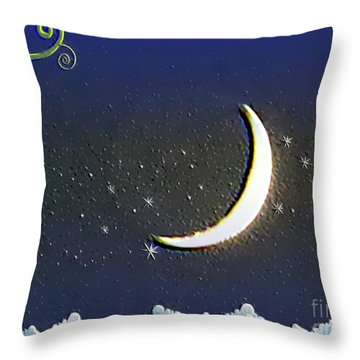 Climb To The Moon Throw Pillow