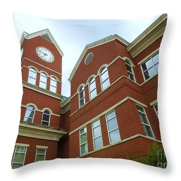 Clock Tower Throw Pillow by Renee Trenholm