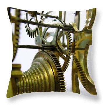 Clockwork Throw Pillow by John Chatterley
