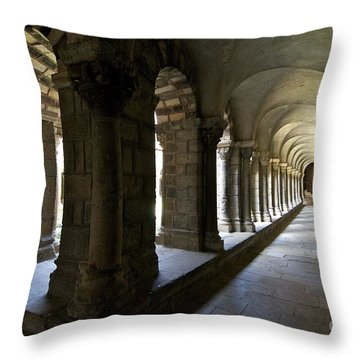 Cloister Of Puy En Velay. Auvergne. France Throw Pillow