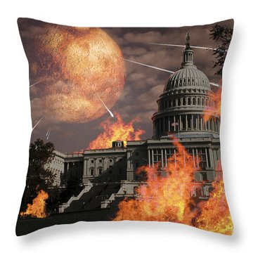 Close Approach Of Nibiru, Planet X Throw Pillow by Ron Miller