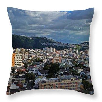 Close Of Business - Quito - Ecuador Throw Pillow