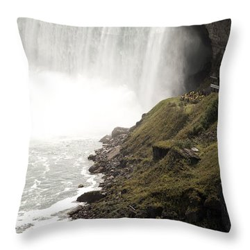 Close To The Falls Throw Pillow by Amanda Barcon