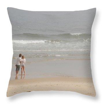 Close To You - Jersey Shore Throw Pillow by Angie Tirado