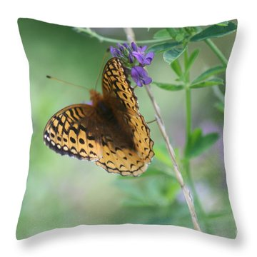 Close-up Butterfly Throw Pillow
