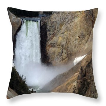 Throw Pillow featuring the photograph Close Up Of Lower Falls by Living Color Photography Lorraine Lynch