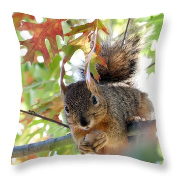 Eating In Peace Throw Pillow
