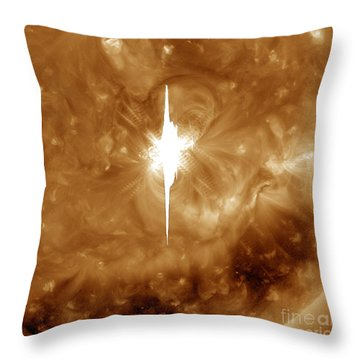 Close-up View Of A Massive X2.2 Solar Throw Pillow by Stocktrek Images