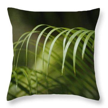 Close View Of Curling Throw Pillow