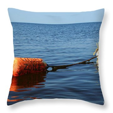Throw Pillow featuring the photograph Closed by Barbara McMahon