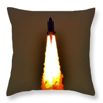 Closer View Of The Launch Throw Pillow