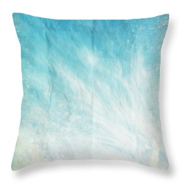 Cloud And Blue Sky On Old Grunge Paper Throw Pillow by Setsiri Silapasuwanchai