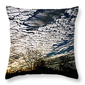 Cloud Blanket Sunset Throw Pillow