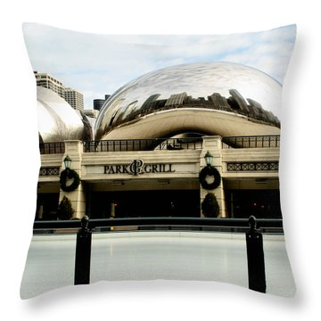 Cloud Gate - 2 Throw Pillow by Ely Arsha