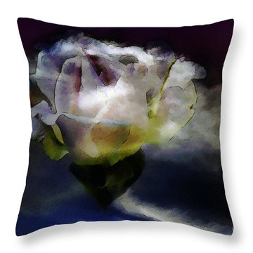 Throw Pillow featuring the photograph Cloud Rose Painterly by Clayton Bruster