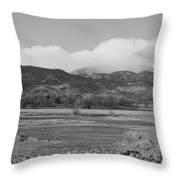 Clouds Hanging On The Continental Divide Colorado Rocky Mountain Throw Pillow by James BO  Insogna