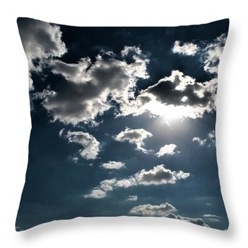 Clouds On A Sunny Day Throw Pillow by Sumit Mehndiratta